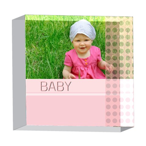Baby By Jacob   5  X 5  Acrylic Photo Block   Otpyu0denjqf   Www Artscow Com Front