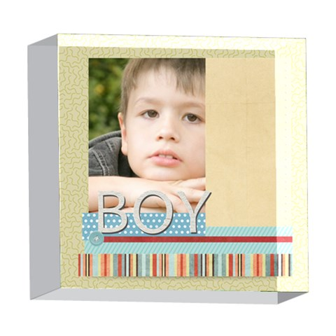 Baby By Jacob   5  X 5  Acrylic Photo Block   27o84axsyvm5   Www Artscow Com Front