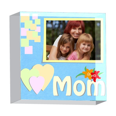 Mom By Jacob   5  X 5  Acrylic Photo Block   Ih1zlw96unq7   Www Artscow Com Front