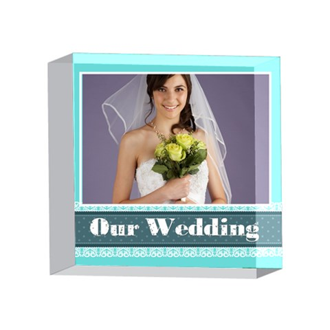 Wedding By Paula Green   4 x 4  Acrylic Photo Block   1cdq09wkp6gn   Www Artscow Com Front