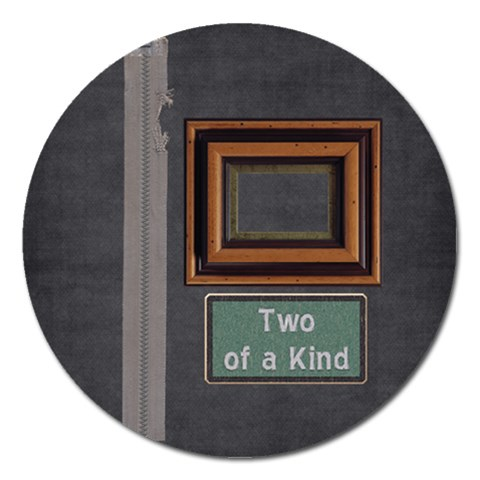 Brothers Round Magnet By Lisa Minor   Magnet 5  (round)   Gotkizqjf1x0   Www Artscow Com Front