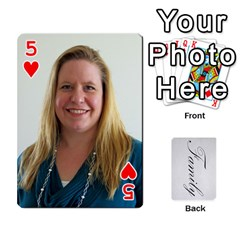 Gma Smith By Mary Jo   Playing Cards 54 Designs   Cgj7cg8mzvzc   Www Artscow Com Front - Heart5