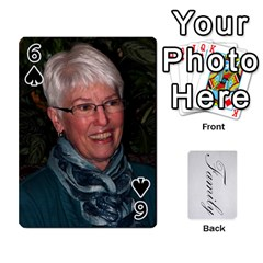 Gma Smith By Mary Jo   Playing Cards 54 Designs   Cgj7cg8mzvzc   Www Artscow Com Front - Spade6