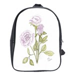 Spray Of Pink Roses School Bag (Large)