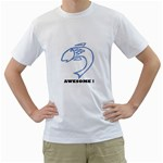 Awesome Fish White T-Shirt