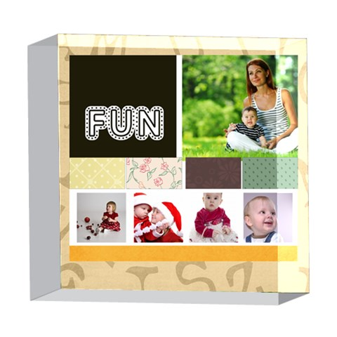 Fun By Debe Lee   5  X 5  Acrylic Photo Block   A6a86aqid9tx   Www Artscow Com Front