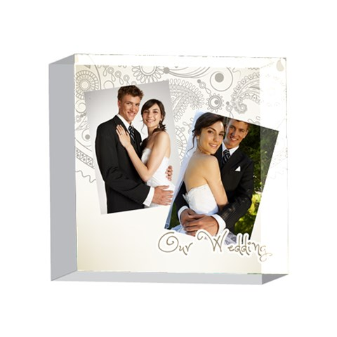 Wedding By Paula Green   4 x 4  Acrylic Photo Block   6nn41kcpfoyo   Www Artscow Com Front