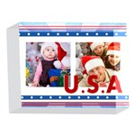usa - 5 x 7  Acrylic Photo Block