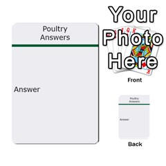 Poultry Question Cards By Lmw   Multi Purpose Cards (rectangle)   4zo8denyjrd7   Www Artscow Com Back 9