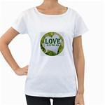 Love Is In The Air Maternity White T-Shirt