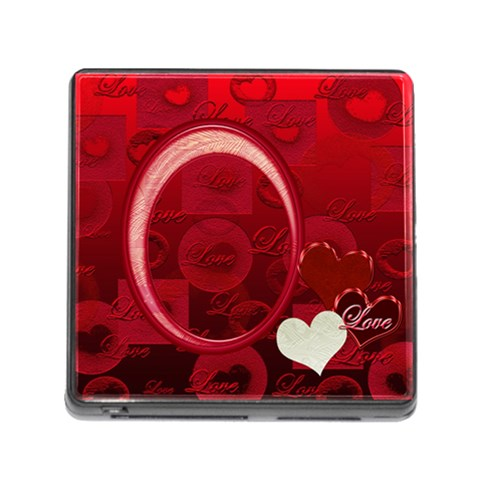 I Heart You Red Memory Card Reader By Ellan   Memory Card Reader (square)   Df3fxtzrqmci   Www Artscow Com Front