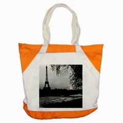 Vintage France Paris Eiffel Tour & Seine At Dusk 1970 Snap Tote Bag by Vintagephotos