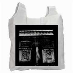 Vintage France Paris Triumphal arch 1970 Single-sided Reusable Shopping Bag by Vintagephotos