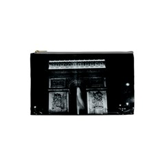 Vintage France Paris Triumphal Arch 1970 Small Makeup Purse by Vintagephotos