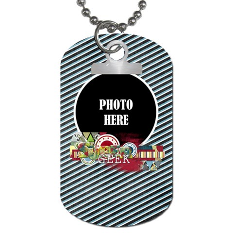 Learn Discover Explore Dog Tag 1 By Lisa Minor   Dog Tag (one Side)   Jtiqd7xw8bua   Www Artscow Com Front
