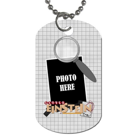 Learn Discover Explore Dog Tag 3 By Lisa Minor   Dog Tag (one Side)   G0yt11qk3gvr   Www Artscow Com Front