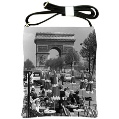 Vintage France Paris Triumphal Arch 1970 Cross Shoulder Sling Bag by Vintagephotos