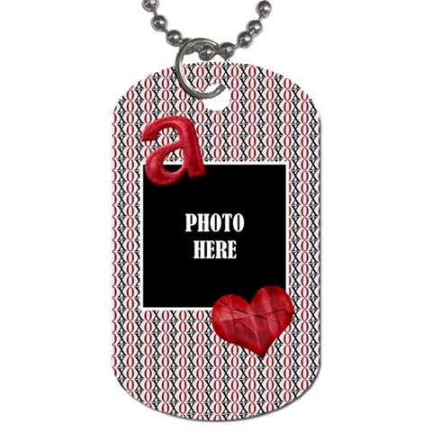 Sweetie Alphabet Dog Tag 3 By Lisa Minor   Dog Tag (one Side)   69d2peshfu0a   Www Artscow Com Front