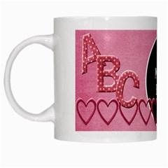 Sweetie Alphabet Mug 1 By Lisa Minor   White Mug   Svoh8a96ihip   Www Artscow Com Left