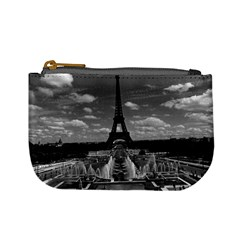 Vintage France Paris Fontain Chaillot Tour Eiffel 1970 Coin Change Purse by Vintagephotos