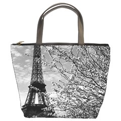 Vintage France Paris Eiffel Tour 1970 Bucket Handbag by Vintagephotos