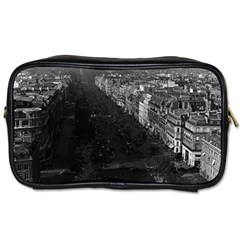 Vintage France Paris Champs Elysees Avenue 1970 Twin Sided Personal Care Bag by Vintagephotos