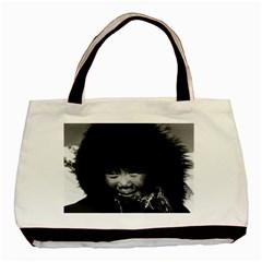 Vintage Usa Alaska Eskimo Child 1970 Black Tote Bag by Vintagephotos