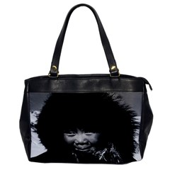 Vintage Usa Alaska Eskimo Child 1970 Single Sided Oversized Handbag by Vintagephotos