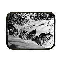 Vintage Usa Alaska Dog Sled Racing 1970 7  Netbook Case by Vintagephotos