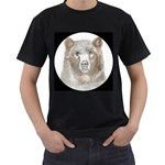 Bear Portrait For Black Tees Black T-Shirt (Two Sides)