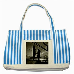 Vintage Usa  Alaska Float Plane Fishing 1970 Blue Striped Tote Bag by Vintagephotos