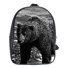 Vintage Usa Alaska Brown Bear 1970 Large School Backpack by Vintagephotos