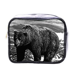 Vintage Usa Alaska Brown Bear 1970 Single Sided Cosmetic Case by Vintagephotos