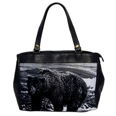 Vintage Usa Alaska Brown Bear 1970 Single Sided Oversized Handbag by Vintagephotos