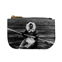 Vintage Usa Alaska Eskimo And His Kayak 1970 Coin Change Purse by Vintagephotos