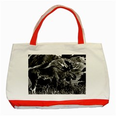 Vintage Usa Alaska Bull Moose 1970 Red Tote Bag by Vintagephotos