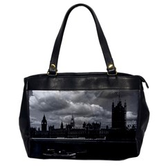 Vintage Uk England London The Houses Of Parliament 1970 Single Sided Oversized Handbag by Vintagephotos