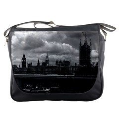 Vintage Uk England London The Houses Of Parliament 1970 Messenger Bag by Vintagephotos