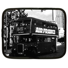 Vintage Uk England London Double Decker Bus 1970 12  Netbook Case by Vintagephotos