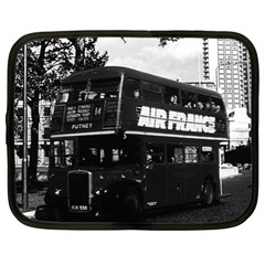 Vintage Uk England London Double Decker Bus 1970 13  Netbook Case by Vintagephotos