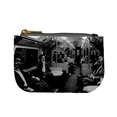 Vintage Uk  England Railway Inside Coach 1970 Coin Change Purse by Vintagephotos