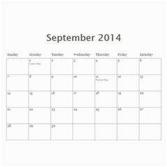 Family Calendar 2014 Updated By Meagan   Wall Calendar 11  X 8 5  (12 Months)   Upujk8ca87cf   Www Artscow Com Sep 2014