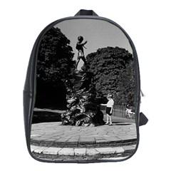 Vintage UK  England London Peter Pan statue Kensington School Bag (XL)