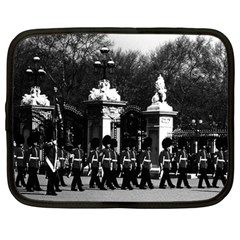 Vintage England London Changing Guard Buckingham Palace 12  Netbook Case by Vintagephotos