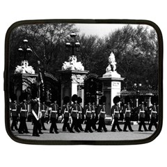 Vintage England London Changing Guard Buckingham Palace 15  Netbook Case by Vintagephotos