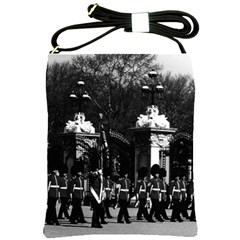 Vintage England London Changing Guard Buckingham Palace Cross Shoulder Sling Bag by Vintagephotos