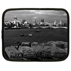 Vintage Uk England River Thames London Skyline City 12  Netbook Case