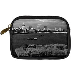 Vintage Uk England River Thames London Skyline City Compact Camera Case by Vintagephotos