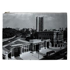Vintage Uk England London Hyde Park Corner Hilton 1970 Cosmetic Bag (xxl) by Vintagephotos