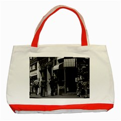 Vintage Uk England London Shops Carnaby Street 1970 Red Tote Bag by Vintagephotos